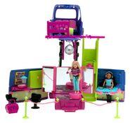 Polly Pocket Club Groove Par-Tay Bus Shani & Polly Dolls