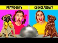 CZEKOLADA VS NORMALNE RZECZY -- Zabawne psikusy i test smaku od 123 GO! FOOD