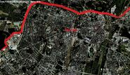 Google Earth Poznań strefy wpływów faza 3