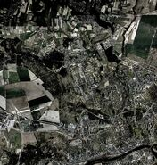 Google Earth Gorzów mapa zniszczona