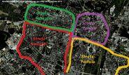 Google Earth Poznań strefy wpływów faza 1