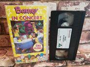 Barney In Concert Sing Along Children's VHS Video Tape Vintage Classic TBLO 2