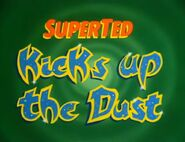 SuperTed Kicks Up the Dust (1985) Title Card