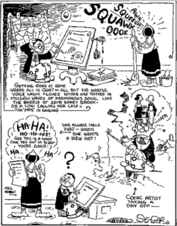 Segar's own daily life strip and caricature.png