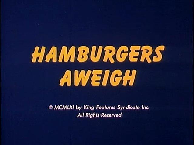 Hamburgers Aweigh