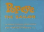 Popeye the Sailor (1959) Title Card