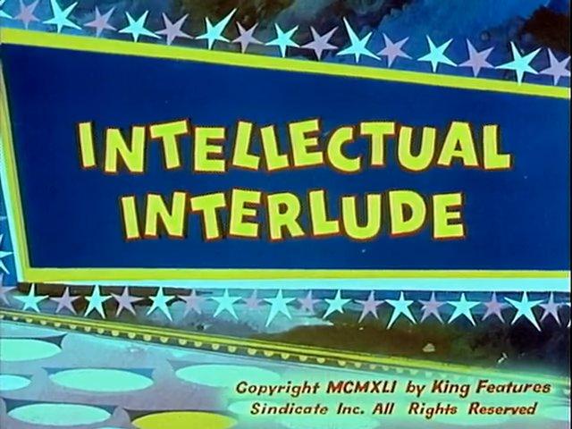 Intellectual Interlude