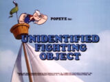 Unidentified Fighting Object