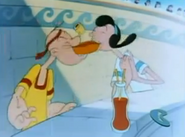 Popeye and Olive in Popeye Meets Hercules