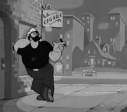 Bluto with a cigar