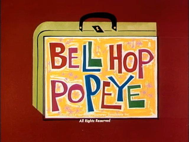 Bell Hop Popeye