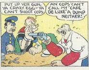 Rough House vs Popeye and a Cop