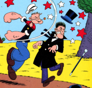 Popeye and Willy in IDW Issue 2 The Worm Returns