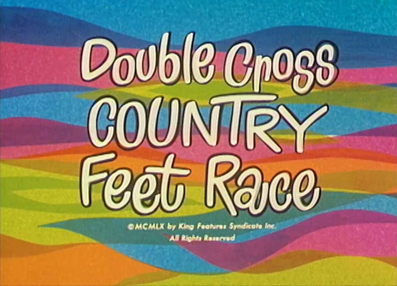 Double Cross Country Feet Race