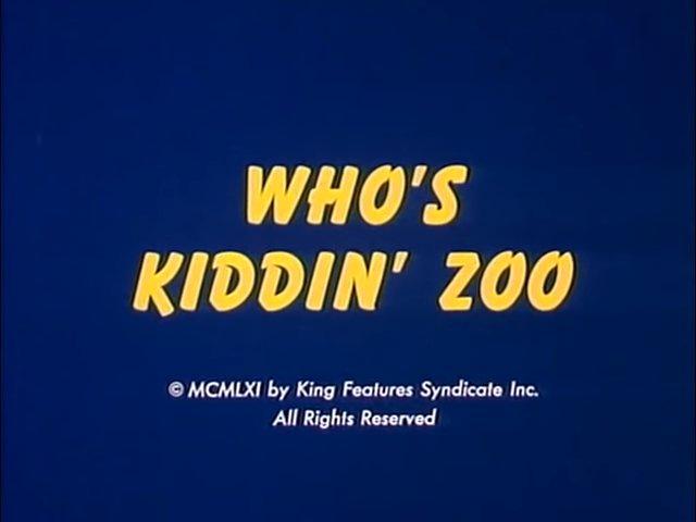 Who's Kiddin' Zoo