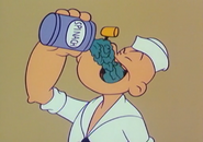 Popeye Gobbling Some Spinach