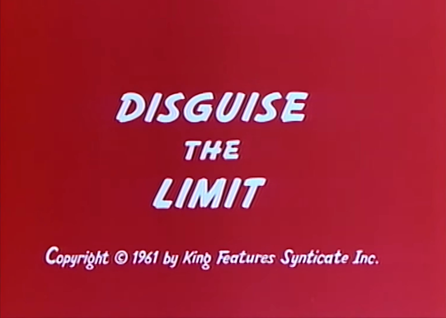 Disguise the Limit