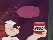 Popeye with a Can of Spinach