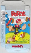 Popeye Candy Sticks Box - 05 - Light Blue Box - Football - Front
