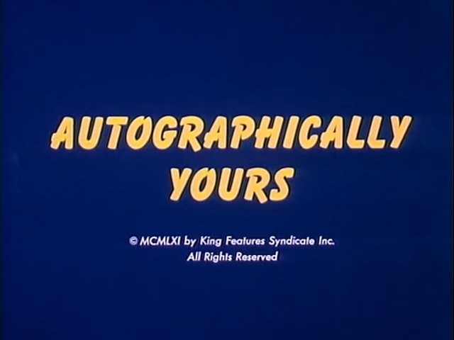 Autographically Yours