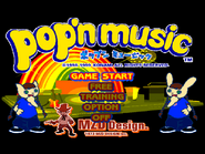 Pop'n Music Start Screen