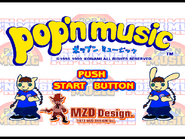 Pop'n Music Opening Screen
