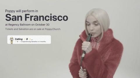 Poppy Calls Her Fans Live