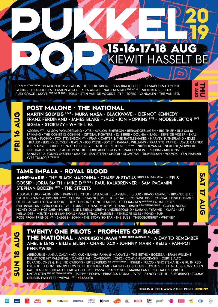 08/18/19 at Pukkelpop 2019