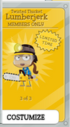 Twisted Thicket Girl Lumberjerk card