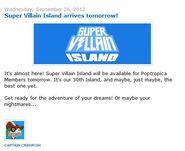 Super Villain Island arrives tomorrow!
