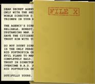 File X examined
