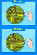 Poptropica Adventures maze instructions