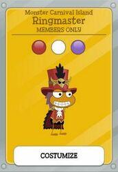 Ringmaster MCI member costume