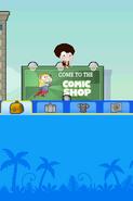 Poptropica Adventures comic shop sign