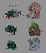 Twisted Thicket creature concepts