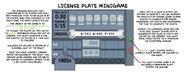 Escape from Pelican Rock license plate minigame concept