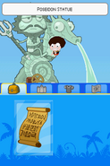 Poptropica Adventures Poseidon statue