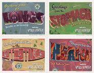 Virus Hunter Island postcards