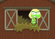 Peridot in her barn!