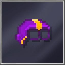 Purple Half-Head Mask