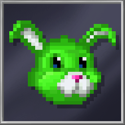 Green Bunny Mask