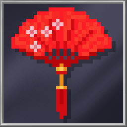 Decorative Red Fan