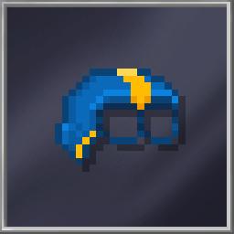Blue Half-Head Mask