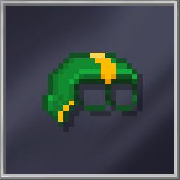 Green Half-Head Mask