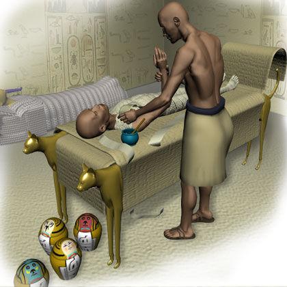Mumia in statu nascendi (ten który leży)
