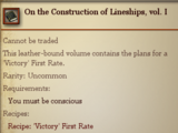On the Construction of Lineships, vol. I