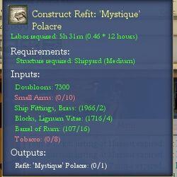 Construct Refit: 'Mystique' Polacre