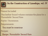 On the Construction of Lineships, vol. IV