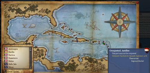 Global Map with Oranjestad