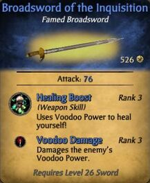 Broadsword of the Inquisition